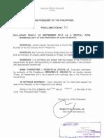 Proclamation No. 644, s. 2013
