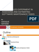 A Controlled Experiment in Assessing and Estimating Software Maintenance Tasks