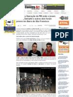 SiteBarra » Entenda a Operação da PM onde o jovem Estevão Dematté e outros dois foram presos em Barra de São Francisco