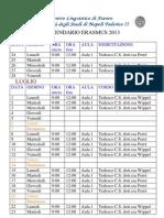 Calendario Erasmus Tedesco2013