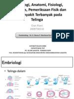 Anatomi, Fisiologi Dan Pemeriksaan Sistem THT