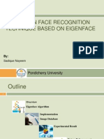 A Study on Face Recognition Technique Based on Eigenface
