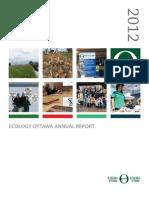 Ecology Ottawa 2012 Annual Report