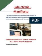 MANIFIESTO DE IDEAS-EJE SOBRE EL PROBLEMA DE LA DEUDA PÚBLICA ARGENTINA. Por Héctor GIULIANO