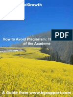 How to Avoid Plagiarism-The Scourge of the Academe