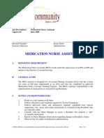 Medication Nurse Assistant