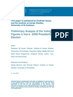Preliminary Analysis of the Voting Figures in Iran's 2009 Presidential Election by Chatham House