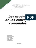 Ley Organica de Los Concejos Comunales