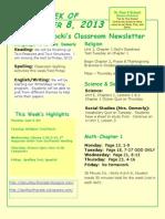 September 8 Newsletter