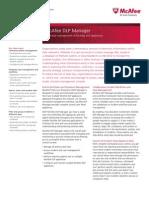 McAfee DLP Manager datasheet