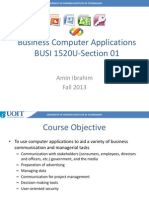 BUSI1520 Fall 2013 Course Outline
