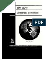 Dewey, John (2002) Democracia y educacion. Una introduccion a la filosofía de la eduacion. Cap I a VI. Ed. Morata. 5ta Edicion.