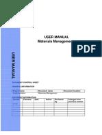 SAP MM End User Manual