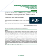 Qualitative  classification and determining pollution sources  of 