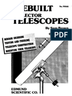 Homebuilt Reflector Telescope