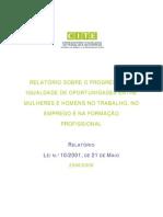 Relatório sobre o Progresso da Igualdade de Oportunidades entre Mulheres e Homens no Trabalho, no Emprego e na Formação Profissional 2006/2008