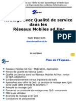 Quality of Service Routing in Ad Hoc Networks (in  French)