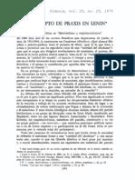 Adolfo Sánchez Vázquez - El concepto de praxis en Lenin