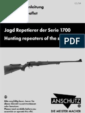 ANSCHUTZ 1700 pdf   Trigger (Firearms)   Rifle