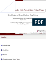 Trajectory Tracking for High Aspect-Ratio Flying Wings
