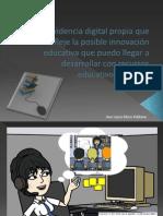 Evidencia digital propia que refleje la posible innovación