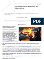 he Clockwork Orange Dilemma Riots Reflections and Ramifications> MRDAs Inferno