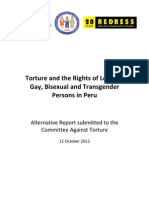 Torture and the Rights of Lesbian, Gay, Bisexual and Transgender Persons in Peru -  2012.