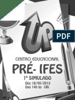 2012 - 1º Simulado Pré-IFES - 18-05 - Gabaritado