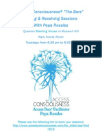 """Gifting & Receiving Sessions  Access Consciousness® """"The Bars"""""""
