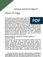 Cosmopolitismo y Soberanía (Pogge)