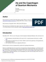 Physics Complementarity and Copenhagen Interpretation of Quantum Mechanics