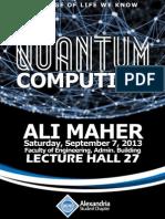 Alexandria ACM SC | Quantum Computing Lecture.