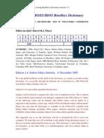 UNESCO IUBS Eubios Bioethic Dictionary