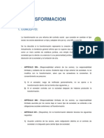 TRANSFORMACION Y FUSION DE SOCIEDADES COMERCIALES