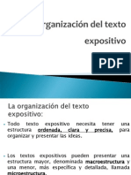 Organizacion Del Texto Expositivo