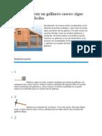 Cómo construir un gallinero casero