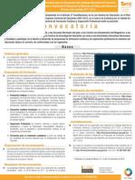 Convocatoria para la integración del Catálogo Nacional de Formación Continua y Superación Profesional de Maestros de Educación Básica en Servicio ciclo escolar 2011-2012