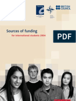 Learning Sources of Funding for International Students 2004