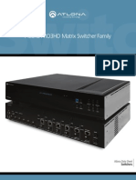 Atlona PRO3HD HDMI Matrix Switcher Family Specifications