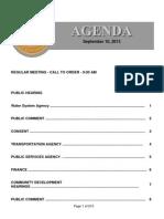 Agenda 9-10-2013