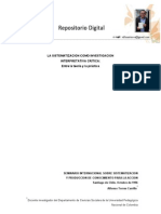 La sistematizació como investigación interpretativa crítica