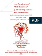 """Gifting & Receiving Sessions  Access Consciousness® """"Body Processes"""""""