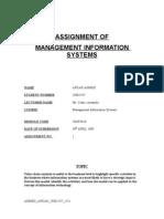 Management info systems - Afkar Ahmed