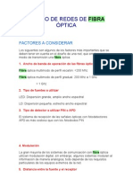 DISEÑO DE REDES DE FIBRA ÓPTICA