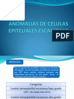 Anomalias de Celulas Epiteliales Escamosas