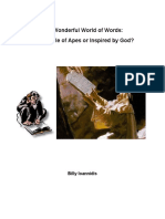 The Wonderful World of Words - The Babble of Apes or Inspired by God - Bill