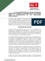 PdR MAA-Contra La Eliminacion de Las Ayudas a Los Prestamos Hipotecarios