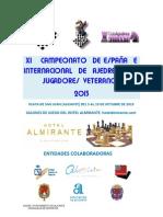 XI Campeonato de España e Internacional de ajedrez para jugadores Veteranos