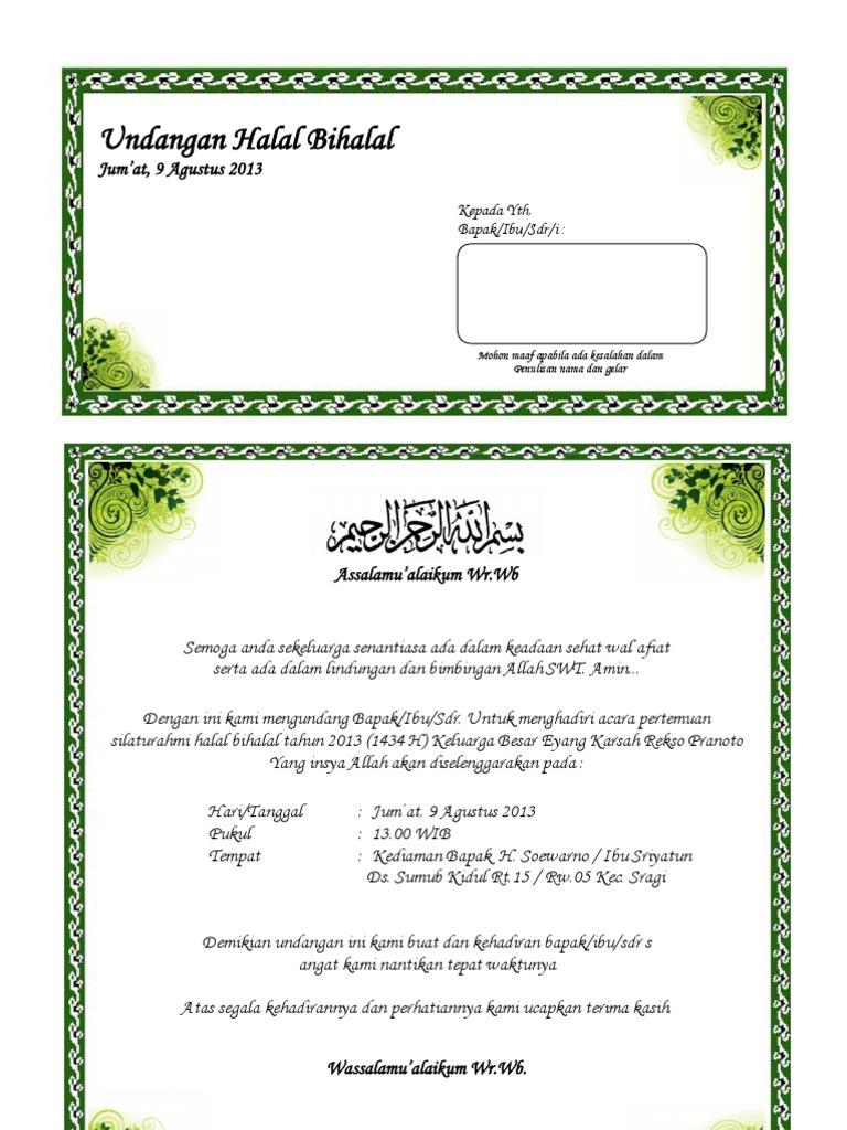 Template Undangan Pengajian Pernikahan