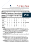 09.08.13 Post Game Notes